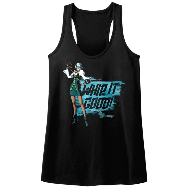 Ace Attorney Whip It Black Junior Women's Racerback Tank Top T-Shirt