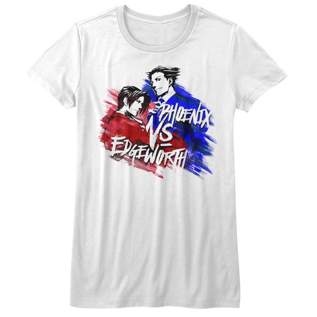 Ace Attorney Versus White Junior Women's T-Shirt