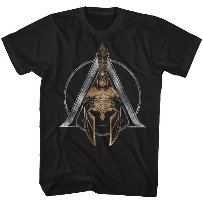 Assassin's Creed Helmet Symbol Black Adult T-Shirt