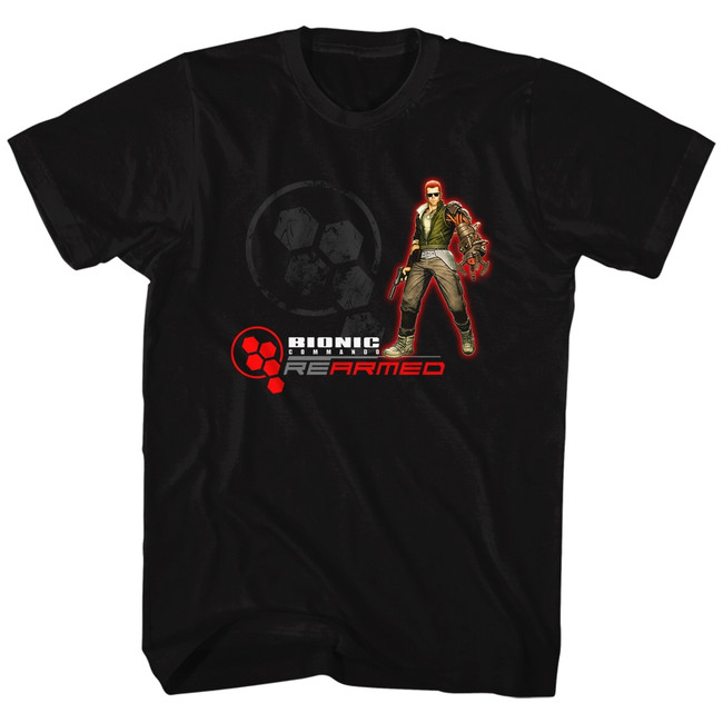 Bionic Commando Rearmed Black Adult T-Shirt