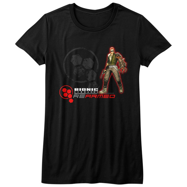 Bionic Commando Rearmed Black Junior Women's T-Shirt