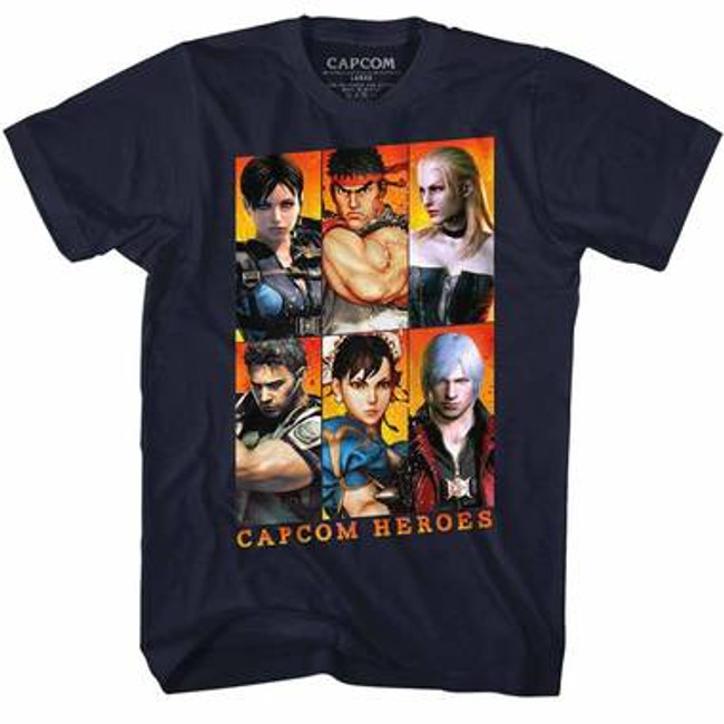 Capcom Gallery Navy Adult T-Shirt