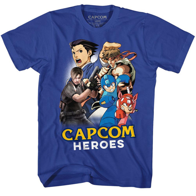 Capcom Cartoon Mash Royal Adult T-Shirt
