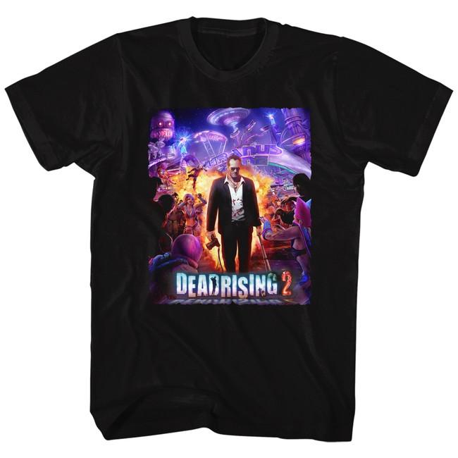 Dead Rising Purple Action Black Adult T-Shirt