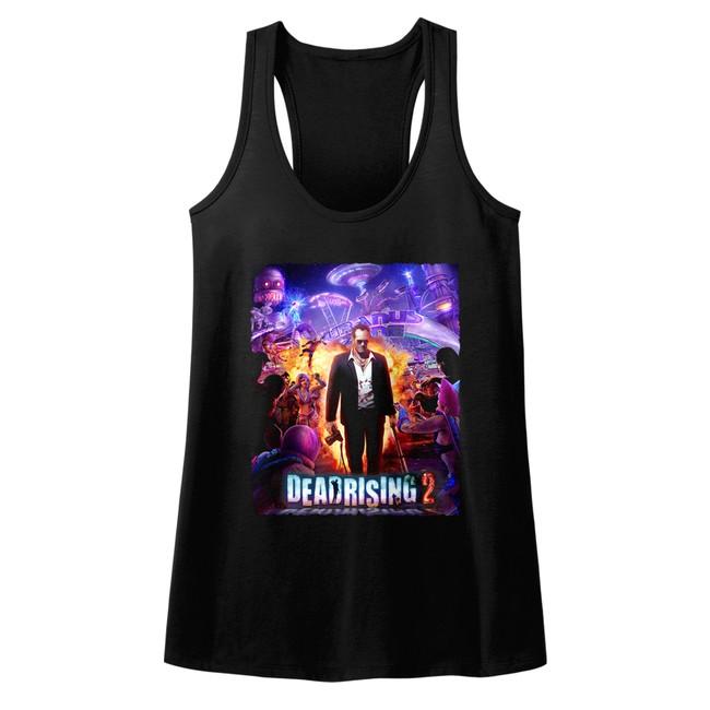Dead Rising Purple Action Black Junior Women's Racerback Tank Top T-Shirt