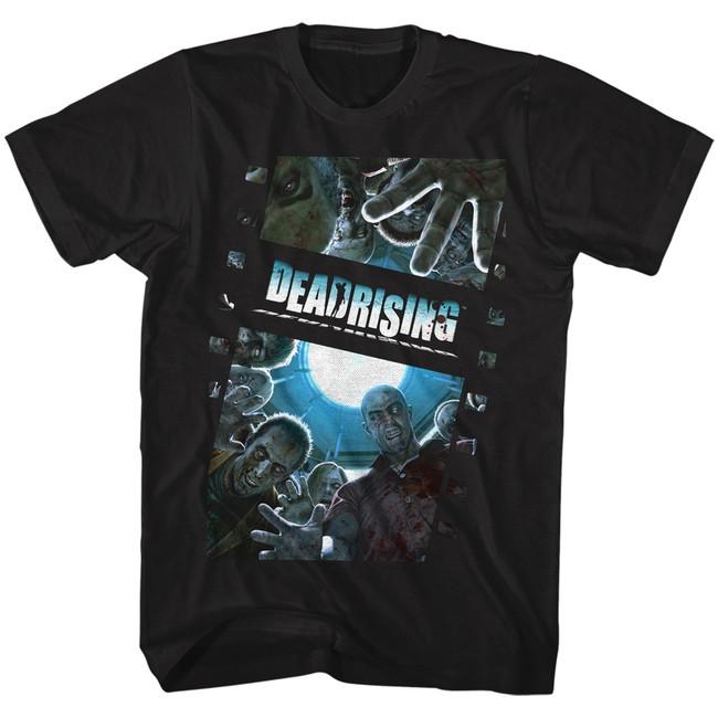 Dead Rising Zombie Film Black Adult T-Shirt