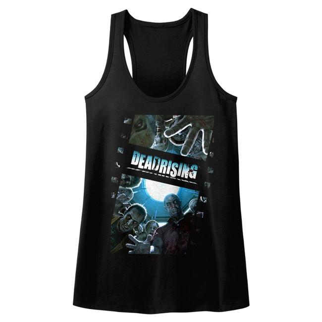 Dead Rising Zombie Film Black Junior Women's Racerback Tank Top T-Shirt