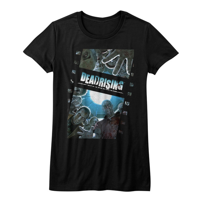 Dead Rising Zombie Film Black Junior Women's T-Shirt