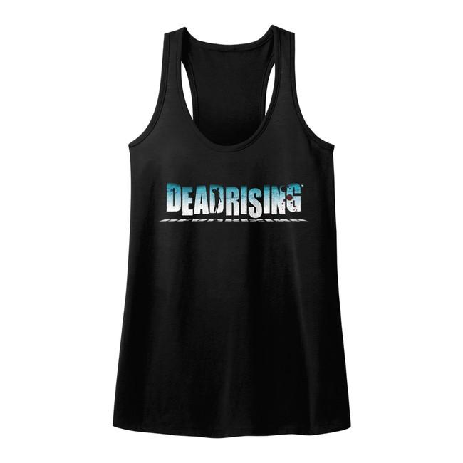 Dead Rising Logo Black Junior Women's Racerback Tank Top T-Shirt