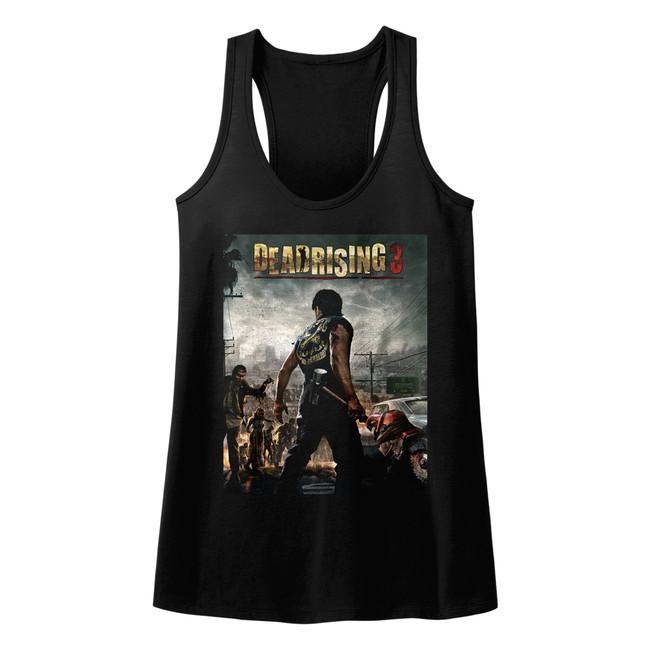 Dead Rising Dead Rising 3 Black Junior Women's Racerback Tank Top T-Shirt