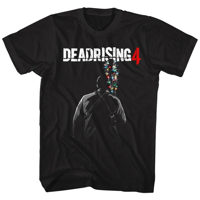 Dead Rising Batmas Lights Black Adult T-Shirt
