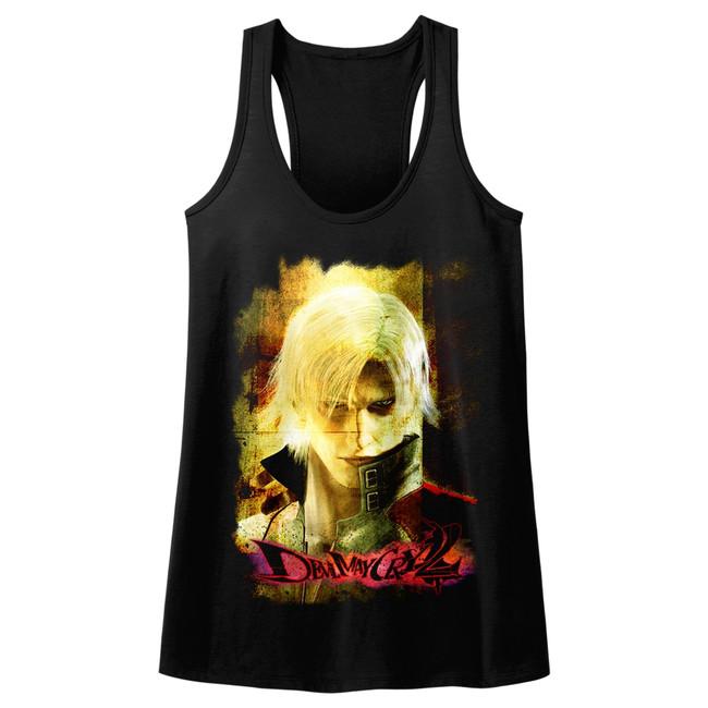 Devil May Cry Grunge Stare Black Junior Women's Racerback Tank Top T-Shirt