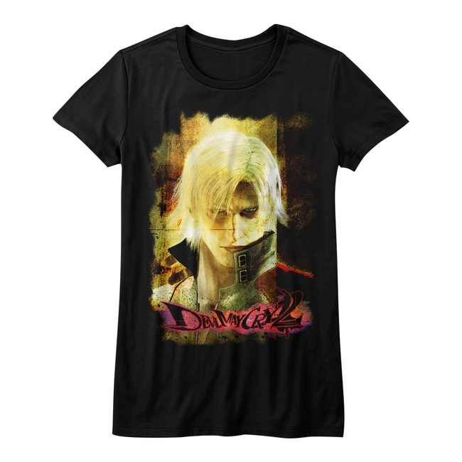 Devil May Cry Grunge Stare Black Junior Women's T-Shirt