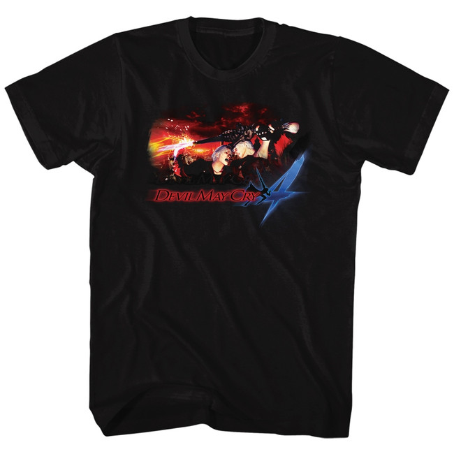 Devil May Cry Face Your Demons Black Adult T-Shirt