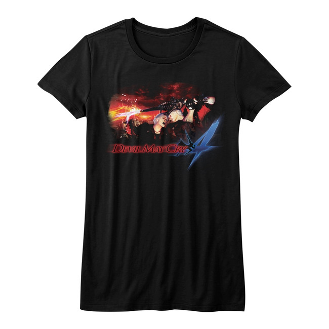 Devil May Cry Face Your Demons Black Junior Women's T-Shirt