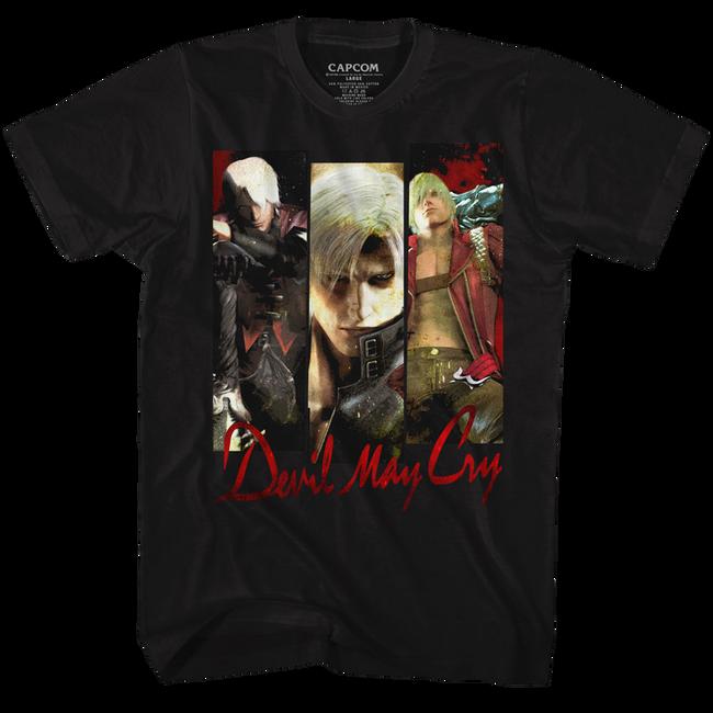 Devil May Cry Trio Black Adult T-Shirt