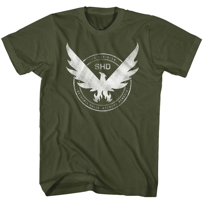 The Division Phoenix Crest Military Green Adult T-Shirt