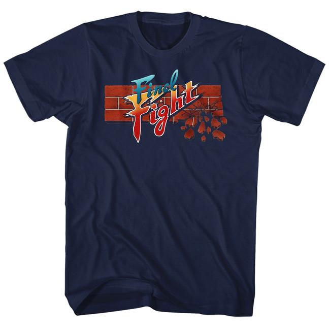 Final Fight Navy Adult T-Shirt