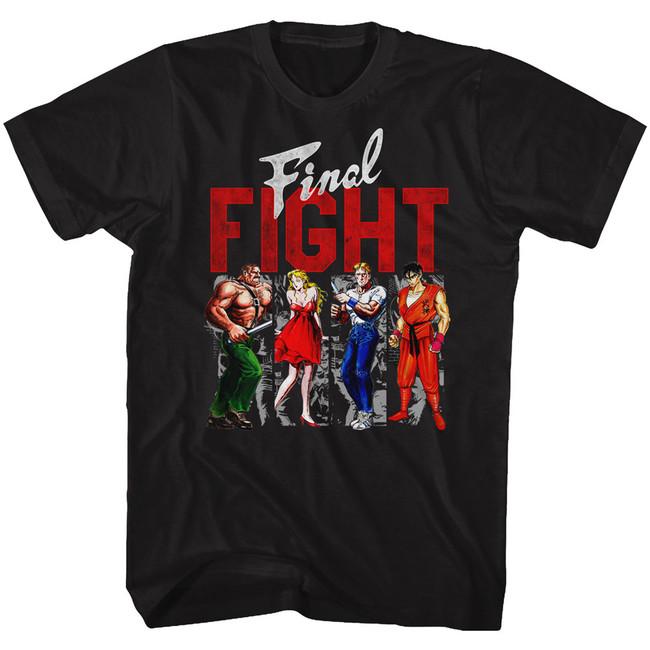 Final Fight Panels Black Adult T-Shirt
