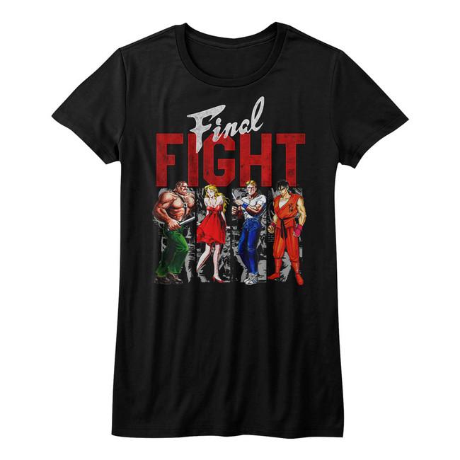 Final Fight Panels Black Junior Women's T-Shirt