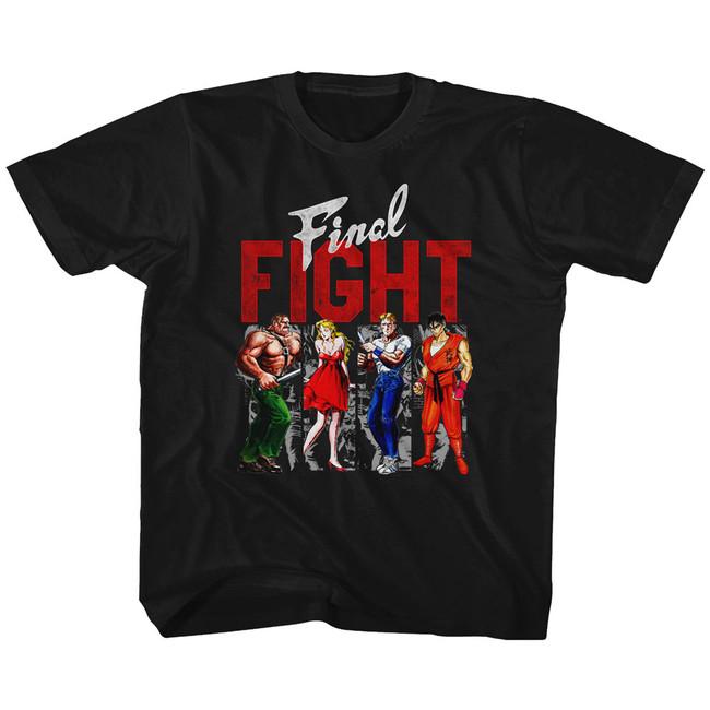Final Fight Panels Black Youth T-Shirt