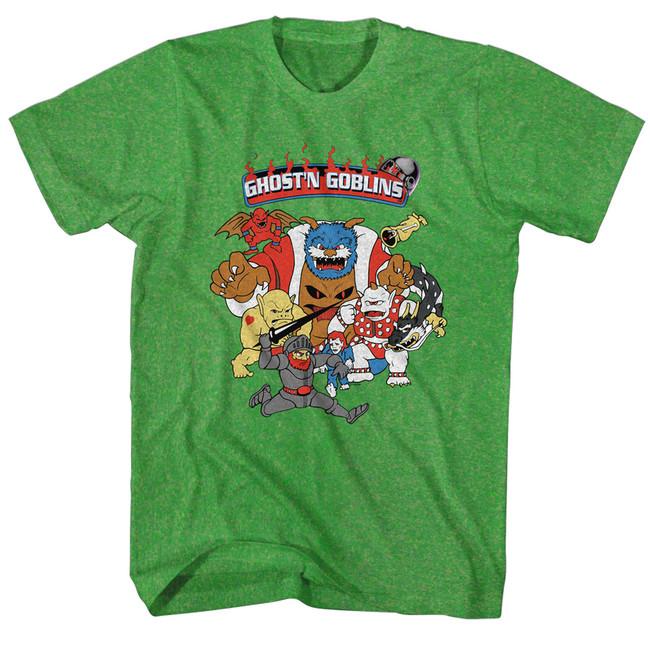 Ghosts 'n Goblins Kelly Heather Adult T-Shirt