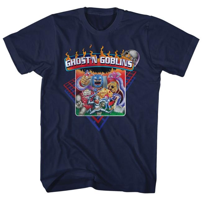 Ghosts 'n Goblins Navy Adult T-Shirt
