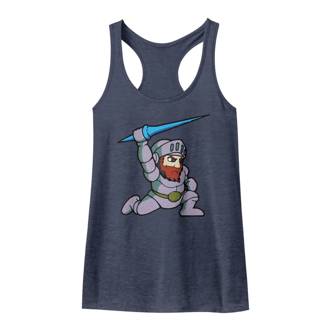 Ghosts 'n Goblins Arthur Indigo Junior Women's Racerback Tank Top T-Shirt
