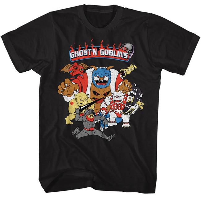 Ghosts 'n Goblins Black Adult T-Shirt