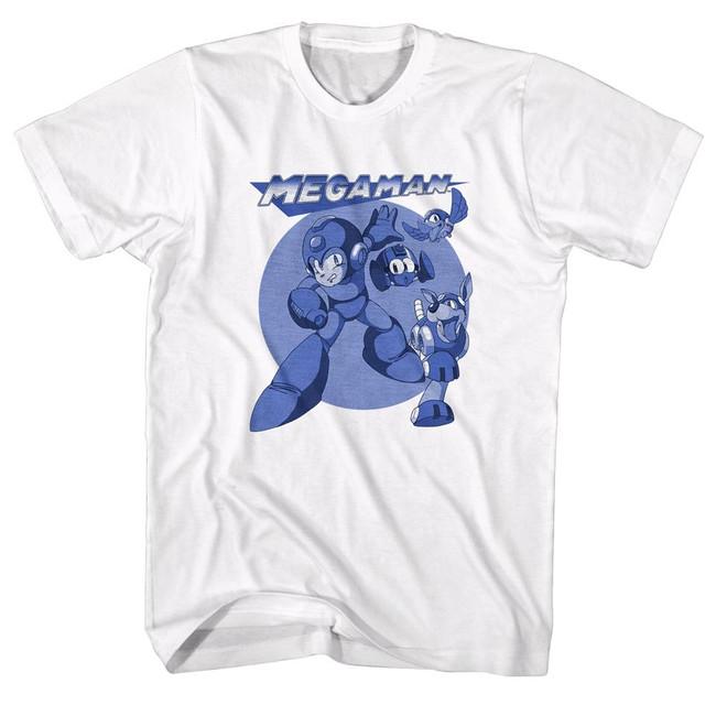 Mega Man Mega Blues White Adult T-Shirt