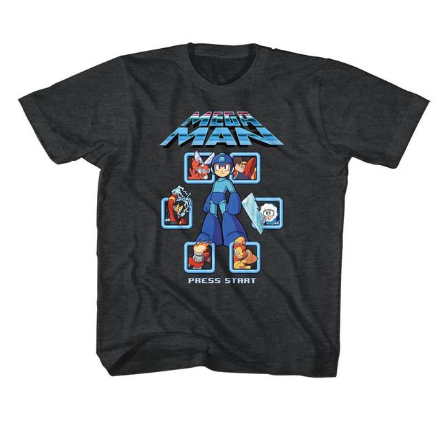 Mega Man Select Screen Remix Black Heather Children's T-Shirt