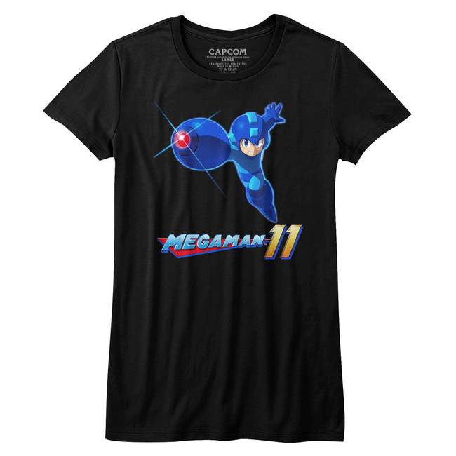 Mega Man Mega 11 Black Junior Women's T-Shirt
