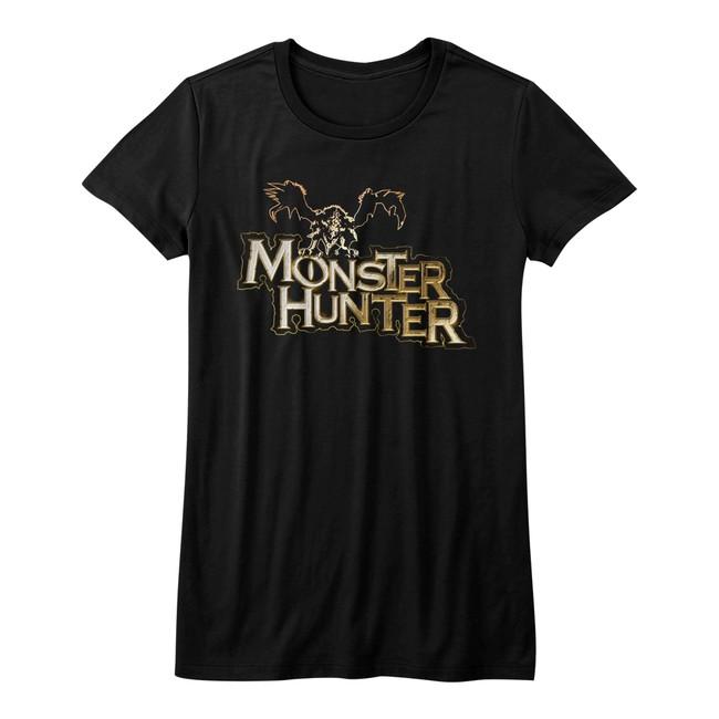 Monster Hunter Logo Black Junior Women's T-Shirt