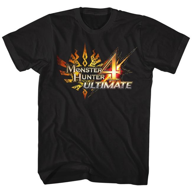 Monster Hunter Monster Hunter 4 Ultimate Logo Black Adult T-Shirt