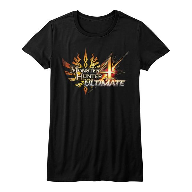 Monster Hunter Monster Hunter 4 Ultimate Black Junior Women's T-Shirt