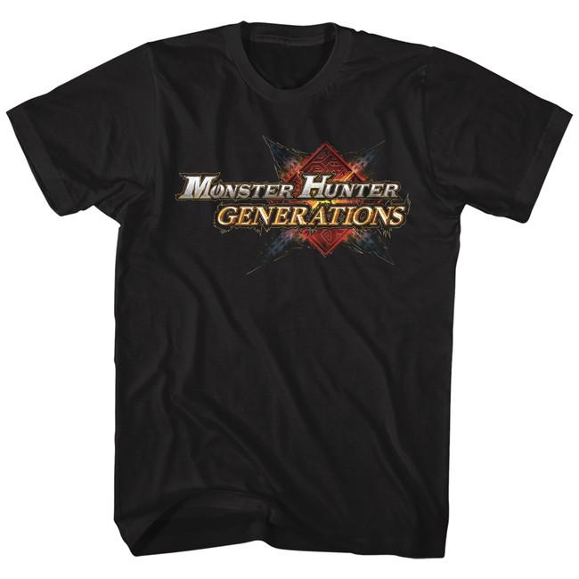 Monster Hunter Monster Hunter Generations Black Adult T-Shirt