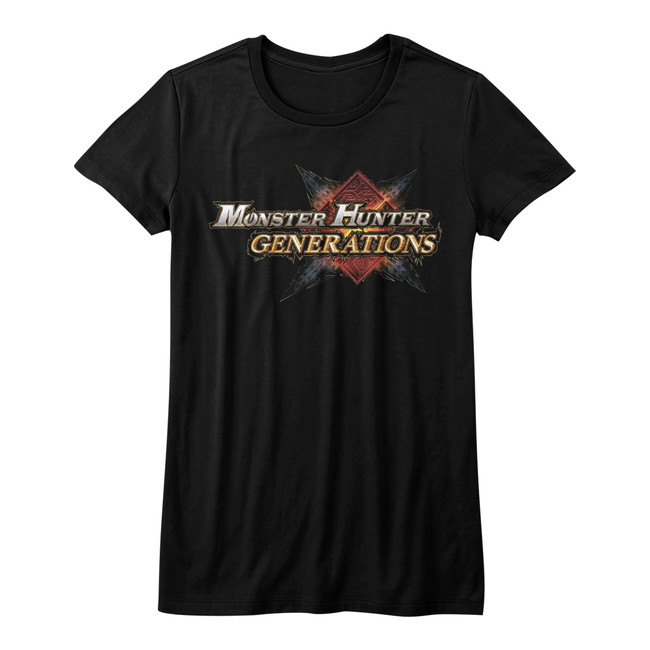 Monster Hunter Monster Hunter Generations Black Junior Women's T-Shirt