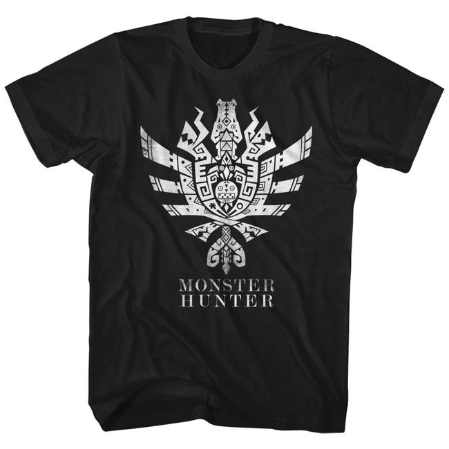 Monster Hunter Monster Hunter 4 Ultimate Symbol Black Adult T-Shirt