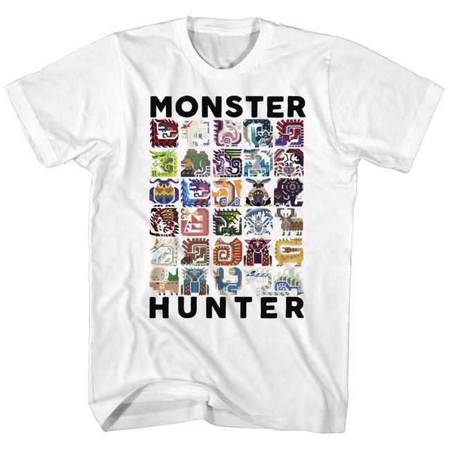 Monster Hunter Let's Hunt White Adult T-Shirt