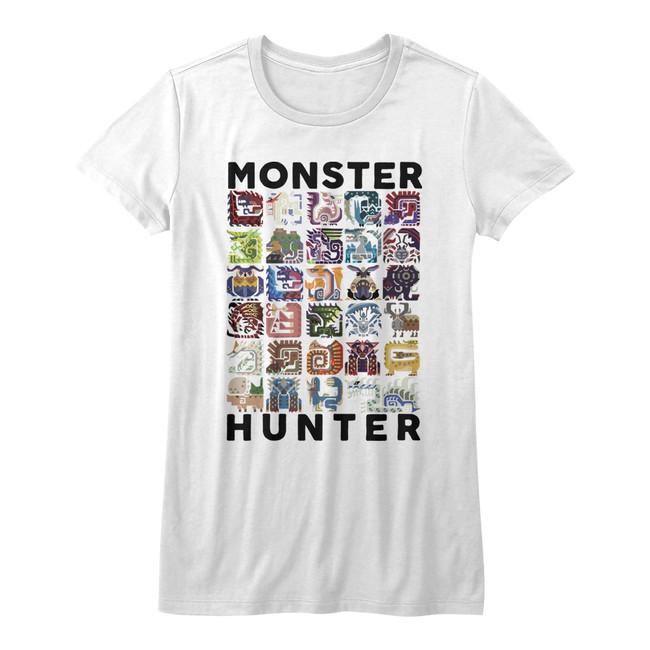 Monster Hunter Let's Hunt White Junior Women's T-Shirt