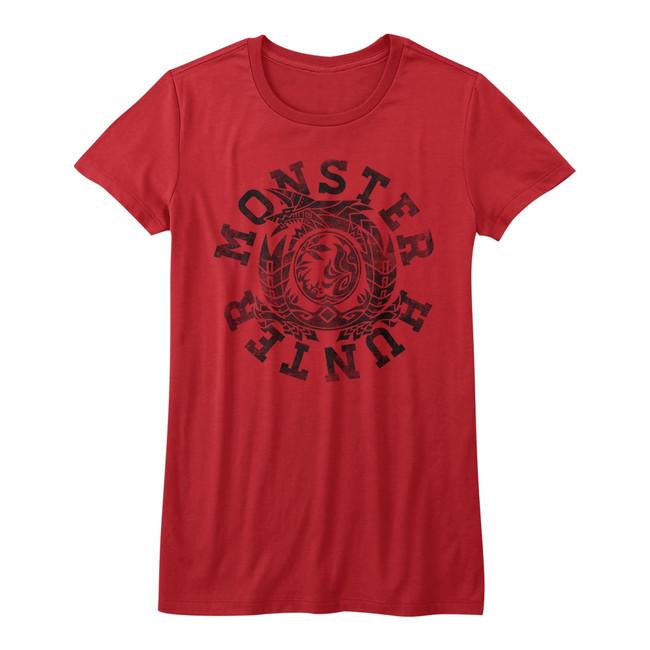 Monster Hunter Circle Red Junior Women's T-Shirt