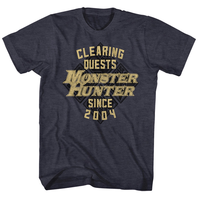 Monster Hunter Since '04 Navy Heather Adult T-Shirt