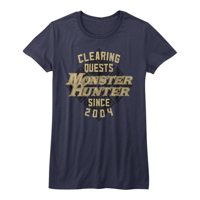 Monster Hunter Since '04 Navy Junior Women's T-Shirt