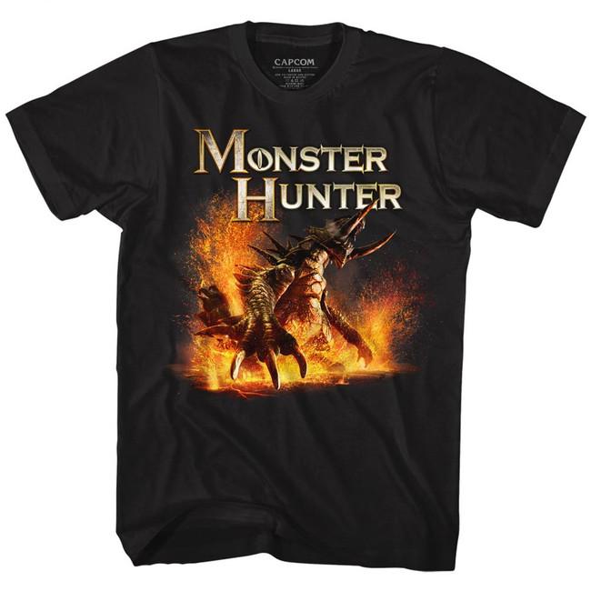 Monster Hunter Beast Black Adult T-Shirt