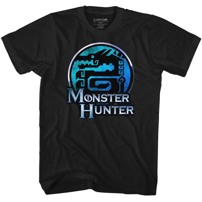 Monster Hunter Dragon Black Adult T-Shirt