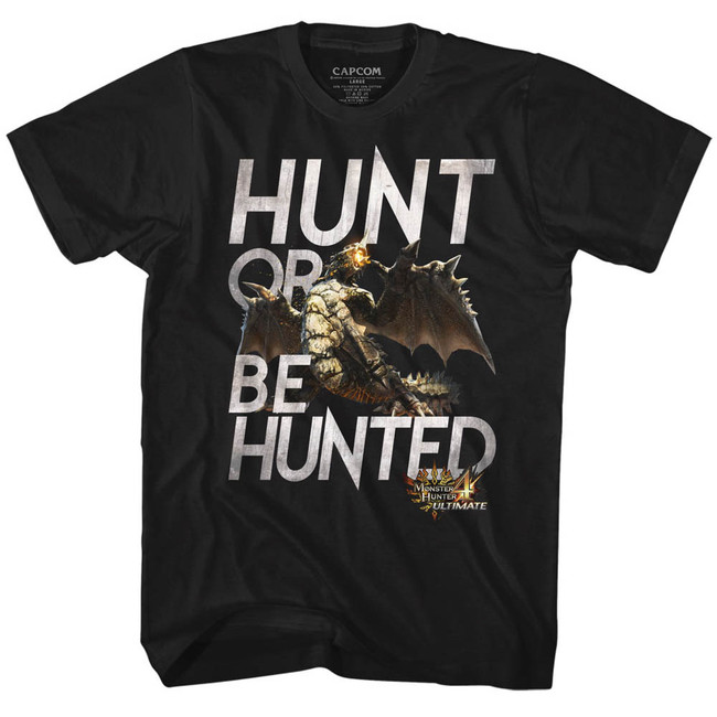 Monster Hunter Hunt Black Adult T-Shirt