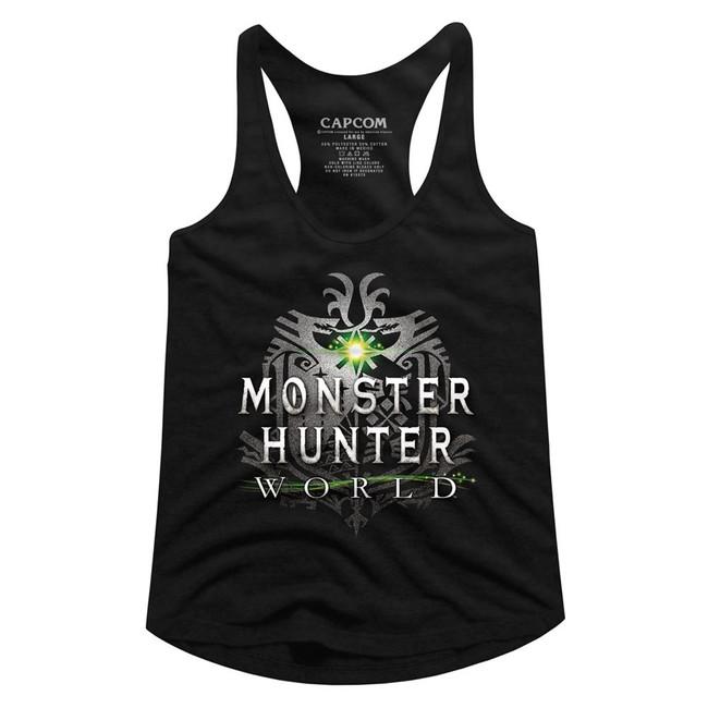 Monster Hunter Monster Hunter World Logo Junior Women's Racerback Tank Top T-Shirt