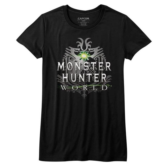 Monster Hunter Monster Hunter World Logo Black Junior Women's T-Shirt