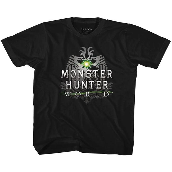 Monster Hunter Monster Hunter World Logo Black Children's T-Shirt