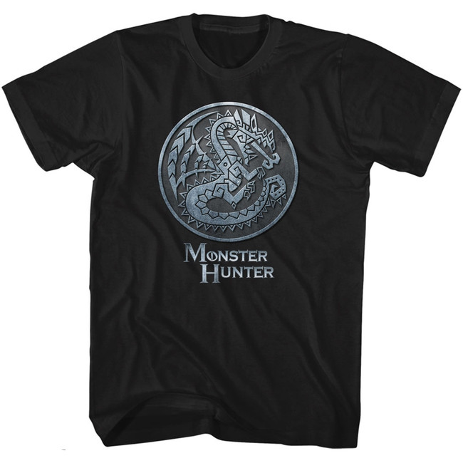 Monster Hunter Monster Emblem Black Adult T-Shirt
